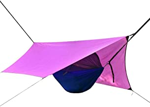 Recreation Camping Hammock Rainproof Sunscreen Multi-function Hammock Lightweight Portable Hammock for Backpacking Hiking ...