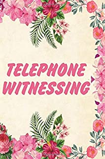 Telephone Witnessing: Letter Writing and Phone Witnessing Organizer for Jehovah's Witnesses. Perfect for doing Field Ministry from Home! Add this ... A perfect Jehovah's Witness gift idea.