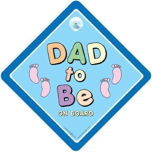 DAD àêtre sur panneau, Dad àêtre voiture Panneau, bleu, pieds, panneau bébéà bord, bébéà bord, Bumper Sticker, autocollant, bébé Panneau, signe, dad-to-be voiture signe pour voiture