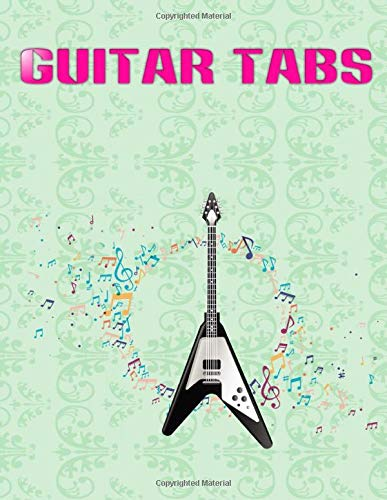 Blank Guitar Tabs: Feel Good Inc Guitar Tabs Matte Cover Design White Paper Sheet Size 8.5 X 11 Inches ~ Tab - Tabs # Notes 104 Pages Standard Print.