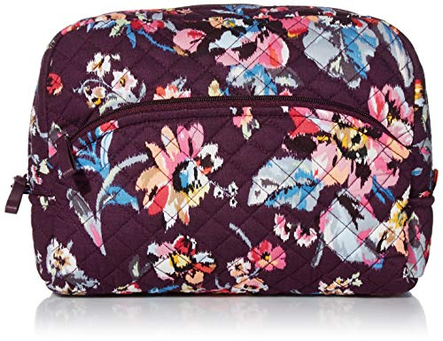 Vera Bradley Women's Signature Cotton Large Cosmetic Makeup Bag, Indiana Rose, One Size