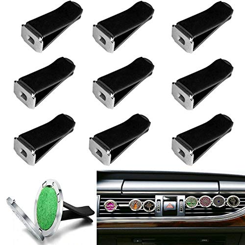 36 Pieces Square Head Car Air Vent Clips, Car Vent Clip for Auto Air Conditioner Outlet Clips Smell Remover Decor. (Black)
