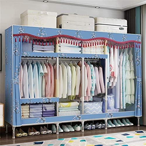 COLiJOL Furniture Wardrobe Storage Closet Clothes Portable Organizer Shelf Wardrobe Clothes Organizer Standing Closet,F,B