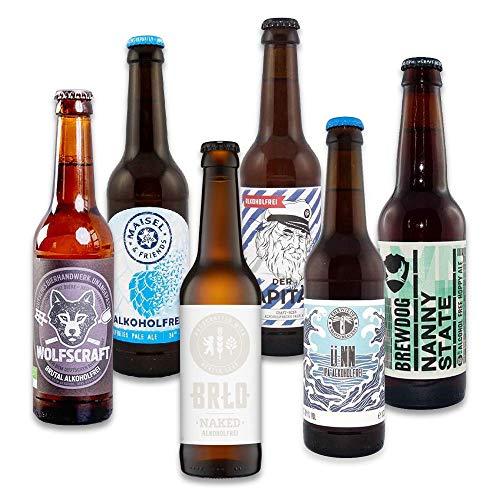 Foodist Craft Beer | alkoholfrei | 6er Bier Box | Bierspezialitäten aus aller Welt zum Probieren (6 x 0,33l)