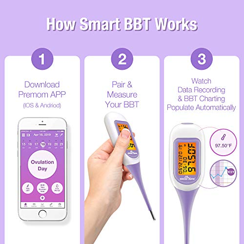 EasyHome-Smart-Basal-Thermometer-Large-Screen-and-Backlit-Period-Tracker-with-Premom-iOS-Android-Auto-BBT-Sync-Charting-Coverline-Accurate-Fertility-Prediction-Purple