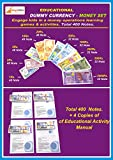 Set has total 400 Notes. 48 notes each of Rs.1, 2, 5, 10, 20. And 32 notes each of 50, 100, 200, 500, 2000 Soft Laminated good quality notes. Thick Paper. Long Life. Relative proportional size. Kit comes with printed activity manual for kids Engage k...