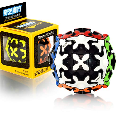 3x3 Ball Gear Cube 3x3x3 Smooth Magic Cube 3D Puzzle Twist Brain Teasers Toy Stocking Filler for Kids