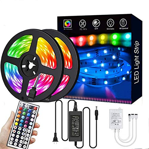 LED Strip Lights,32.8ft RGB 300LEDs Waterproof Light Strip Kits with infrared 44 Key, Suitable for...