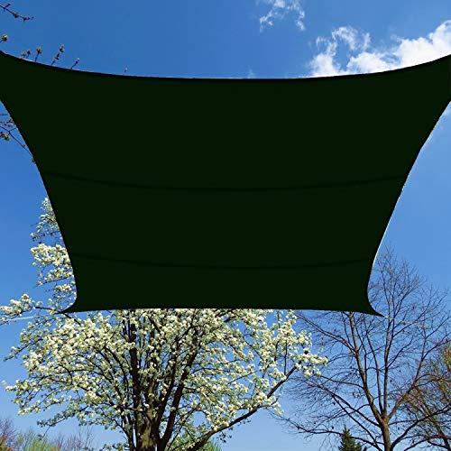 BlueDot Trading Waterproof Green Square Sun Shade Sail 12x12ft