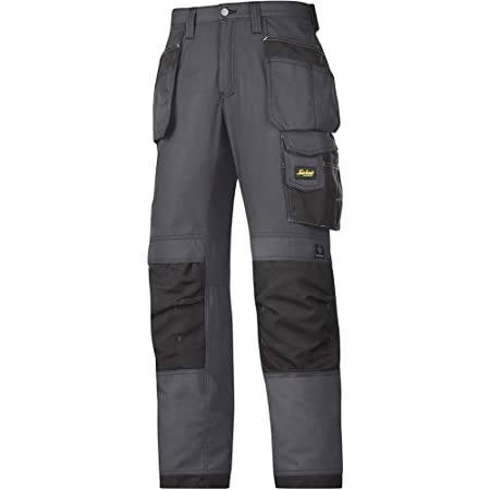 Snickers 32135804048 Craftsmen Holster Pocket Trousers Rip-Stop Size 48 in Grey-Black