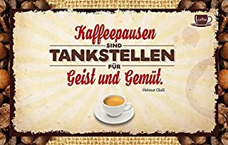 Kaffeepausen sind Tankstellen für Geist und Gemüt. Helmut Glaßl: Kaffeekarte