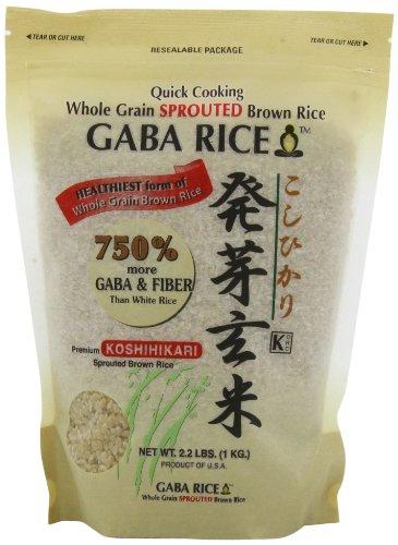 Koshihikari Premium Sprouted Brown Gaba Rice, 2.2-Pound Pouches (Pack of 2)