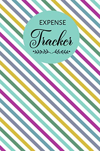 Expense Tracker Sky Purple White Yellow Strip Pattern: Keep Track Daily Expense Tracker Sky Purple White Yellow Strip Pattern