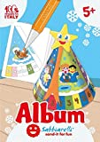 Sabbiarelli Sand-it for Fun - Album Calendario dell'Avvento 3D da Assemblare e Colorare con la Sabbia (Non Inclusa), Decorazione di Natale, Adatto per Bambini Anni 5+