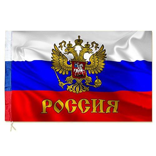 Fahne Flaggen RUSSLAND WAPPEN mit Adler 150x90cm B
