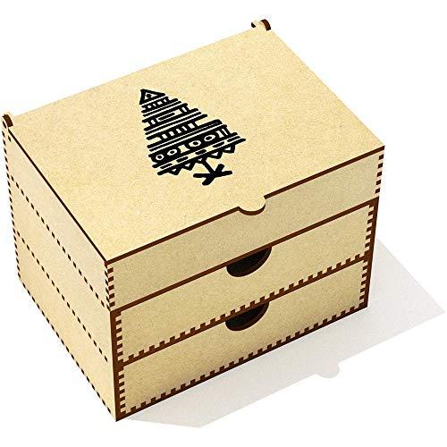 Azeeda 'Abstract Christmas Tree' Vanity Case / Makeup Box (VC00024136)