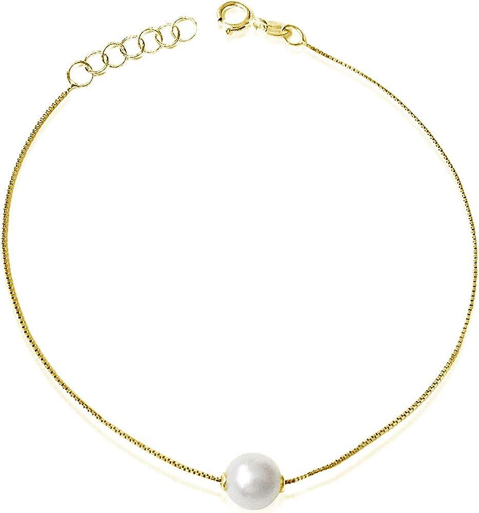 Mille amori bracciale donna in oro giallo 9 ct/375(0,7g) e diamanti BP PASS 6G