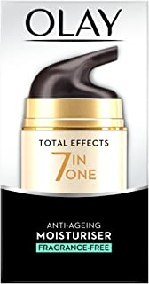 Olay Total Effects 7-in-1 Fragrance Free Anti-Ageing Moisturiser with Niacinamide, Vitamin C and E, 50 ml