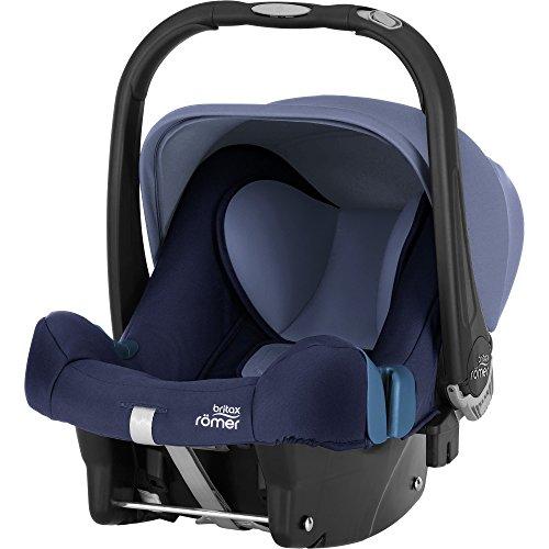 Britax Römer Baby-Safe Plus SHR II - Portabebés para coche, grupo 0+ (nacimiento-13 kg), color Moonlight Blue