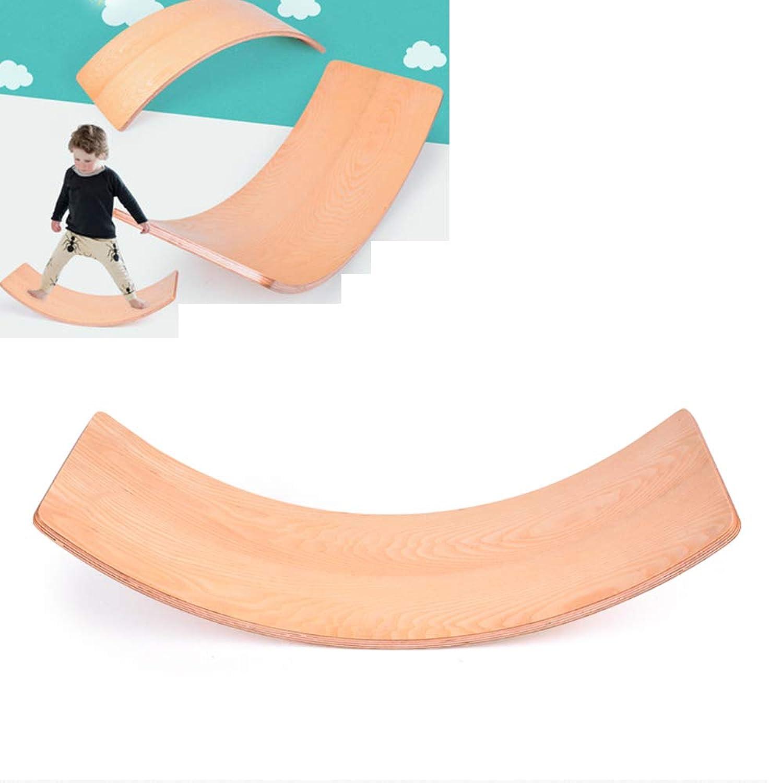 YUSDP Holz Balance Board - Kinder Balance Toy - hochwertige Massivholz-Material, robust, langlebig - ideal zum Wackeln, Spinnen, Schaukeln und Rutschen