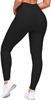Uniquestyle Damen Sport Leggings Honeycomb Leggings Yoga Fitness Hose Lange Sporthose Stretch Workout Fitness Jogginghose