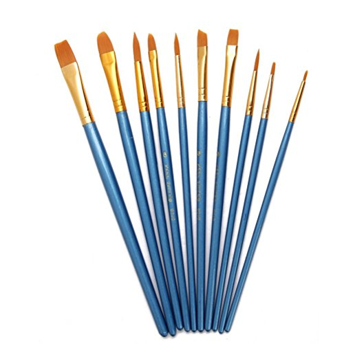 WINOMO Pittura ad acquerello pennello Set pennelli di Nylon - 10pz (blu)