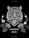 ADDRESS BOOK: Tiger Address Book For Seniors: Large font large area, Looks easy on the eyes, Name,  Address, Phone, Email & Birthday With A-Z Tabs.
