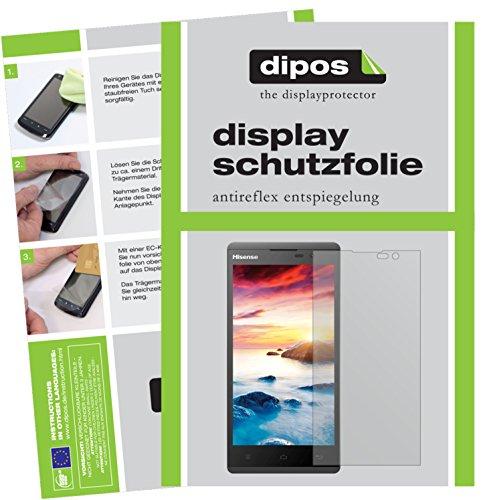 dipos I 2X Schutzfolie matt kompatibel mit Hisense Sero 5 L691 Folie Bildschirmschutzfolie