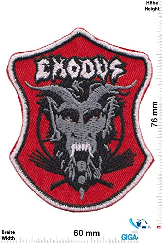Exodus Thrash Metal Band Patch Badge Applique Geborduurd Ijzer op