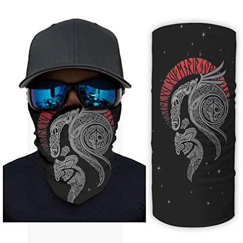 WJunglezhuang vikings odin kraaien 1 Hoofddeksels Multifunctionele Buis Masker Voor Mannen Vrouwen