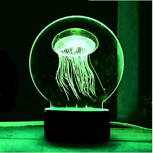 3D LED Lampen Medusa optische Täuschung Nachtlicht 7 Farben Kontakt Kunst Skulptur Lichter mit USB-Kabeln Lampe Dekoration Schlafzimmer Schreibtisch Tisch für Kinder Erwachsene