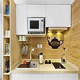 Pegatinas de vinilo de la cocina de bienvenida a mi cocina, papel pintado extraíble, papel pintado hervidor mural de pared, azulejo arte decoración del hogar 50,8 x 76,2 cm