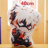 n\a Lovely Anime Bakugou Katsuki Todoroki Shoto Midoriya Izuku Bolster Plush Boku No Hero Academia Pillow Cartoon Toys 40cm Almohada