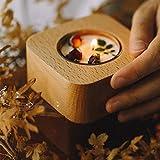 LGR Caja de música Caja de música de Madera Creativa, diseño de candelabro, Elegante decoración de Mesa, Cajas Musicales de cumpleaños (cuadradas)