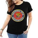 NRA National Rifle Association Logo T Shirt Funny Big Size Women T-Shirts Short Sleeve T-Shirt Round Neck Tee Shirts Black
