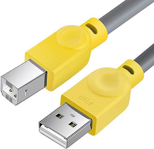 Câble MIDI USB B pour Instruments [1.5M/5FT], Fansjoy Câble USB A vers USB B, Compatible avec Clavier MIDI, Contrôleu...