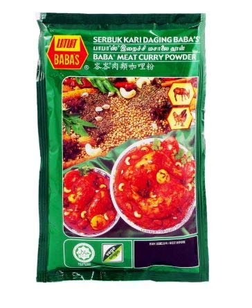 NT# NT# Baba's Packet Curry Powder - Meat 125g -This powder is use for rich curry taste or marinades for chicken and meats