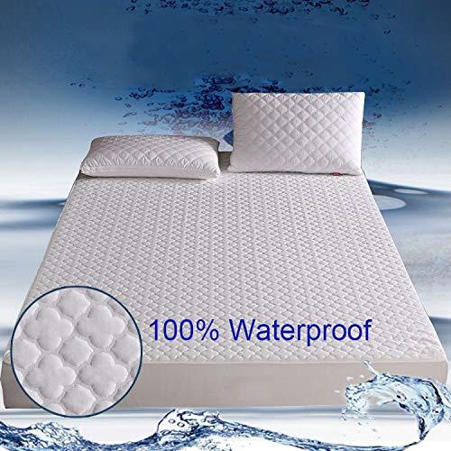 BEDDIANTAO waterdichte matrasbeschermer cover jacquard matras topper bed matrashoes waterdichte ademende matras pad voor matrasbeschermer