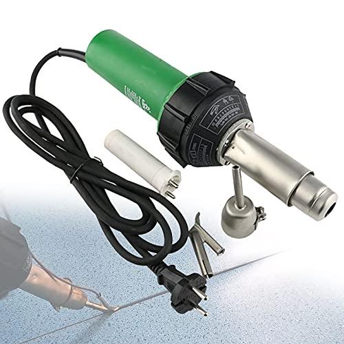 FRIBLSKEL 1600W Pistola Soldadura Piso Plástico 220 V Máquina Soldadura Aire Caliente 50-650 ℃ Temperatura Regulable Herramientas Soldadura PVC Soldador para Reparación Plástico