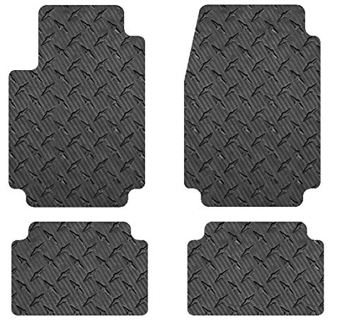 Intro-Tech RR-138-CF Front and Second Row 4 pc. Custom Fit Auto Floor Mats for Select Bentley Continental GT/GTC Models - Simulated Carbon Fiber