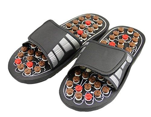 Pantuflas de reflexología, sandalias de masaje con botones de acupresión, favorecen la circulación de la sangre, chanclas que mejoran el metabolismo