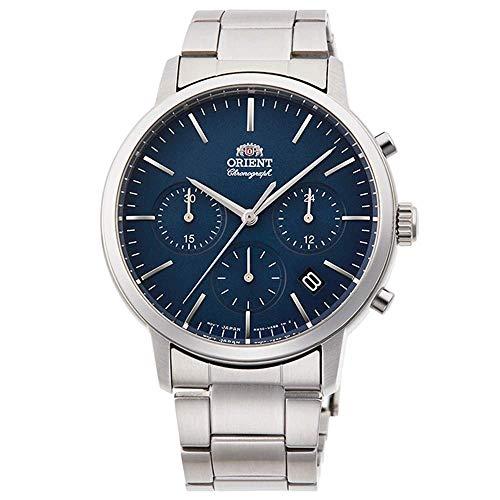 Orient Herren Chronograph Quarz Uhr mit Edelstahl Armband RA-KV0301L10B