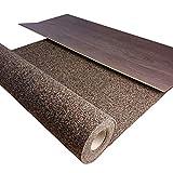 TRECOR® Gummi-Korkunterlage, Trittschalldämmung bis 21 dB Extrem belastbar Schallschutz als Laminat-Unterlage, Parkett-Unterlage, Vinyl-Unterlage Top Schall-Dämmung (3 mm Stärke, 5 m²)