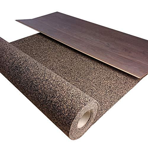 TRECOR® Gummi-Korkunterlage, Trittschalldämmung bis 21 dB Extrem belastbar Schallschutz als Laminat-Unterlage, Parkett-Unterlage, Vinyl-Unterlage Top Schall-Dämmung (2 mm Stärke, 1 m²)