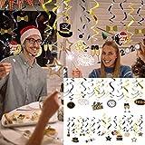 TwoCC Decoration de Noel,30 pièces Nouvel an en Spirale Ornements Maternelle Centre Commercial fenêtre fête...