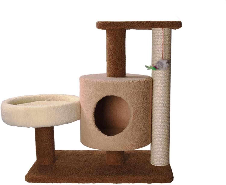 Cat Scratcher Cardboard cat Trees Towers Medium Cat Tree cat Toy Plush cat nest Cat Platform 77.5  40  68cm Cat Scratcher Toy
