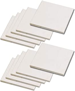 "Bisque Blank White Ceramic Tiles Project Pack Unfinished Square Art Craft Ready to Create (4.25"", 10 White)"