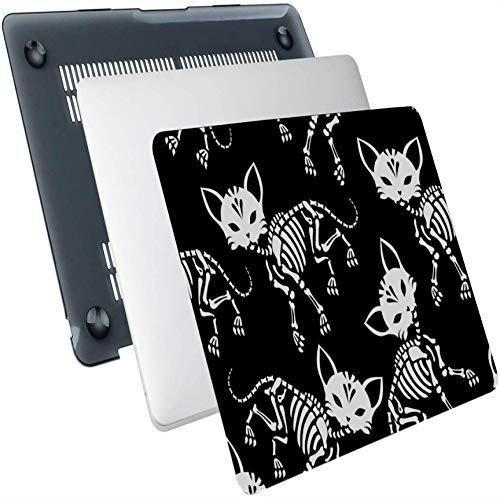 Fundas para Mac Book Pro Floral Day of The Dead Cat Kitten Carcasa rígida de plástico Compatible con Mac Air 13'Pro 13' / 16'Funda para Macbook Funda Protectora de 13 Pulgadas para Macbook versión