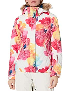 Roxy Junior s Jet Ski Snow Jacket bright white AQUAREL flowers L