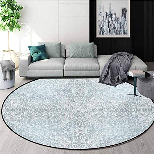 Why Should You Buy RUGSMAT Floral Round Kids Rugs,Ornamental Swirled Flower Lines Abstract Victorian...